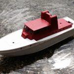 Feuerlöschboot - erste Testfahrt