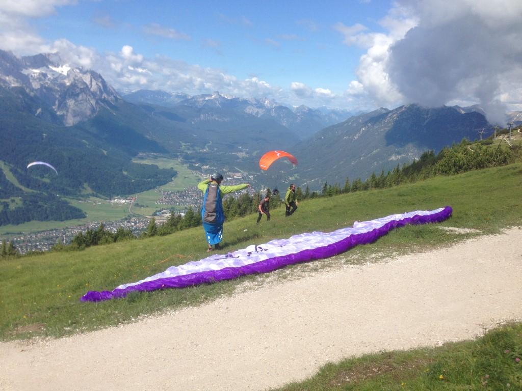 Paraglider auf dem Wank