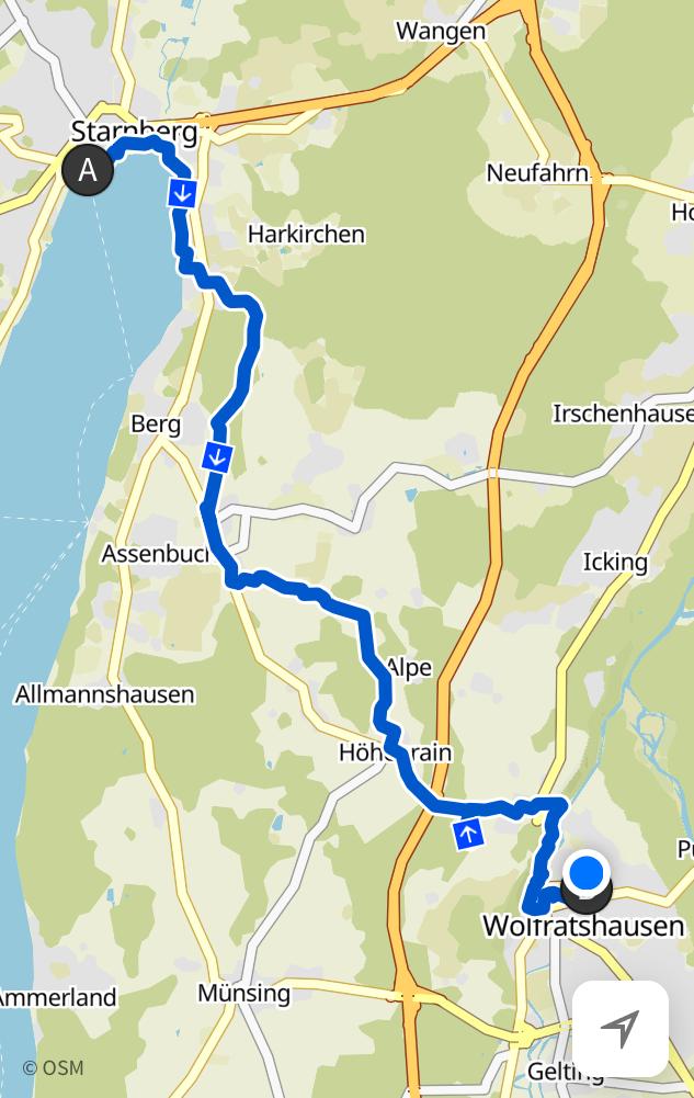 Starnberg nach Wolfratshausen