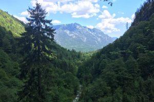 Blick von der Höllentaleingangshütte