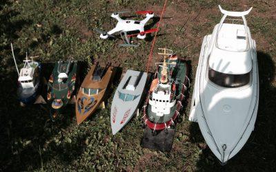 Modellschiffe mit den verschiedensten Antriebsarten